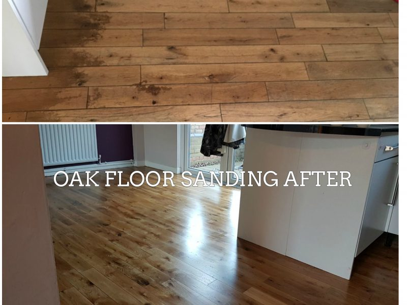 Oak-floor-sanding-before and after